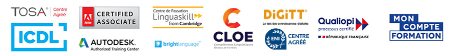 centre certifié Veriselect, adobe ACA et TOSA